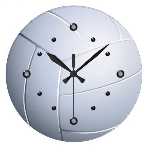 Reloj de pared de la bola del voleo