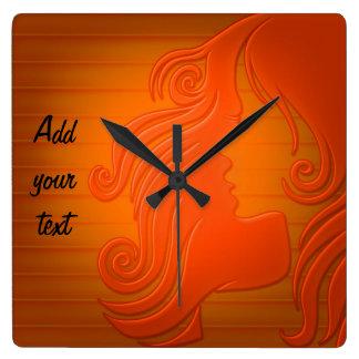 "Reloj de pared de la ""brisa anaranjada"""