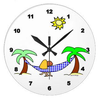 Reloj de pared de la brisa del verano