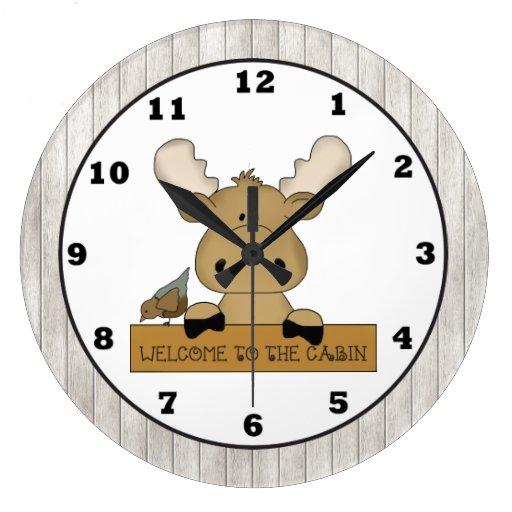 Reloj de pared de la cabina de la recepción de los