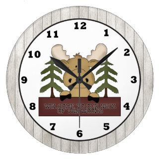Reloj de pared de la cabina de los alces del