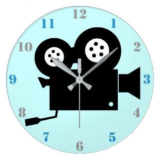 Reloj de pared de la CÁMARA de PELÍCULA