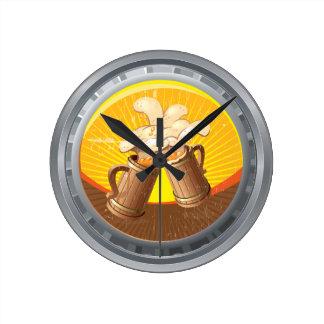 Reloj de pared de la cápsula de la féretro de la