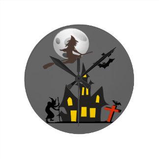Reloj de pared de la casa encantada de Halloween