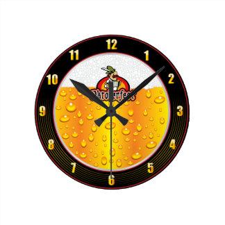 Reloj de pared de la cerveza de Oktoberfest