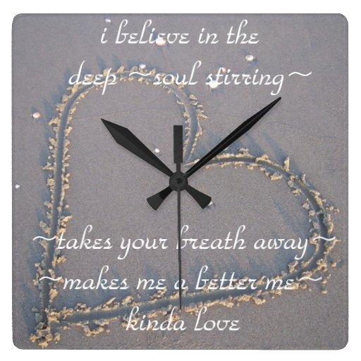 Reloj de pared de la cita del amor