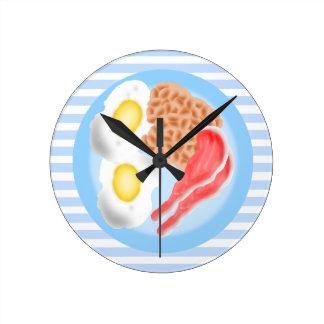 Reloj de pared de la cocina de la comida de desayu