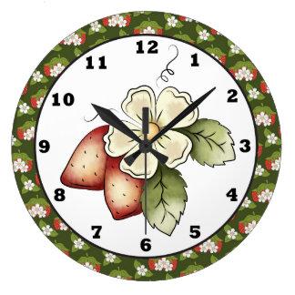 Reloj de pared de la cocina de la fruta de la fres