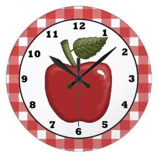 Reloj de pared de la cocina del dibujo animado de