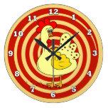 Reloj de pared de la cocina del pollo