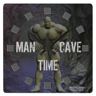 Reloj de pared de la cueva del hombre
