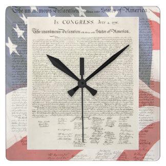 Reloj de pared de la Declaración de Independencia