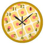 Reloj de pared de la empanada de la cereza grande