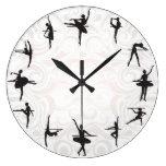 Reloj de pared de la escuela del ballet