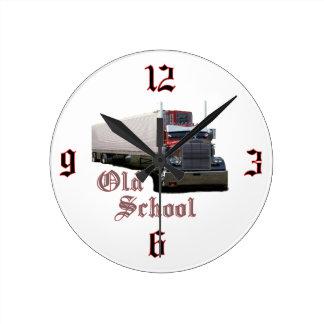 Reloj de pared de la escuela vieja