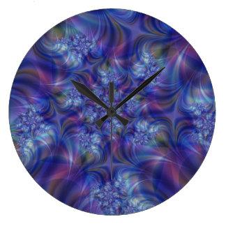 Reloj de pared de la esencia del fractal
