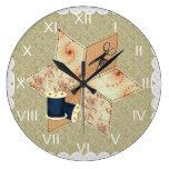 Reloj de pared de la estrella del remiendo