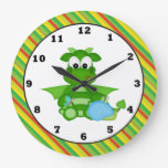 Reloj de pared de la fantasía del dinosaurio del d