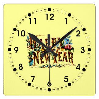 Reloj de pared de la Feliz Año Nuevo