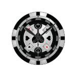 Reloj de pared de la ficha de póker del casino