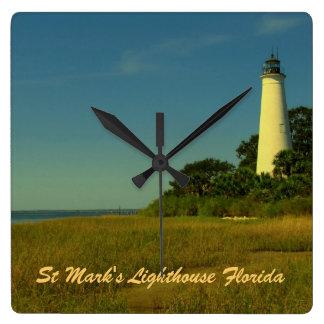 Reloj de pared de la Florida del faro de St Mark