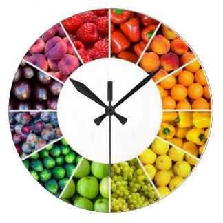 Reloj de pared de la fruta y del Veggie