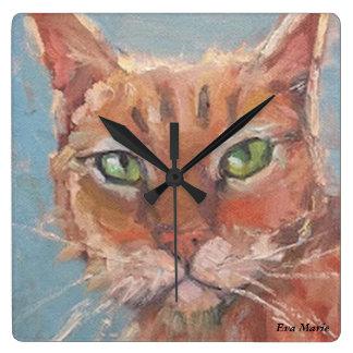 Reloj de pared de la galería de la cola de gato -