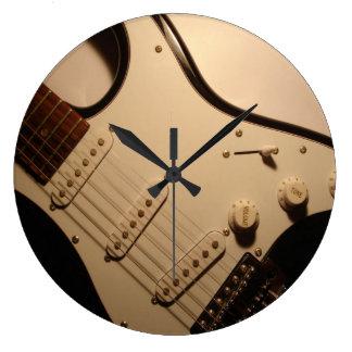 Reloj de pared de la guitarra eléctrica