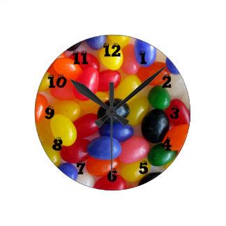 Reloj de pared de la haba de jalea