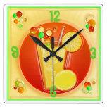 reloj de pared de la HORA del CÓCTEL 3D