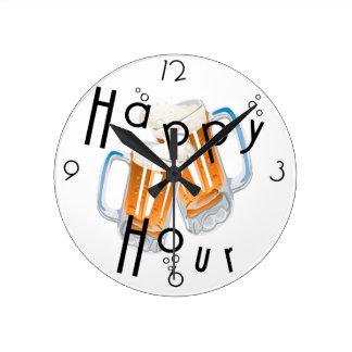Reloj de pared de la hora feliz
