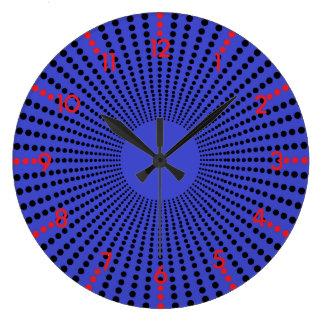 Reloj de pared de la ilusión de los lunares con