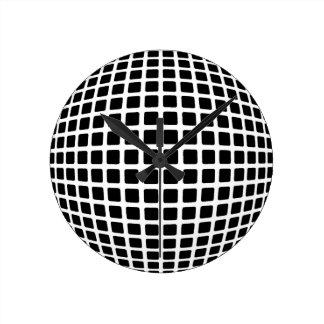 Reloj de pared de la ilusión óptica