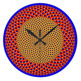 Reloj de pared de la ilusión óptica de las esferas