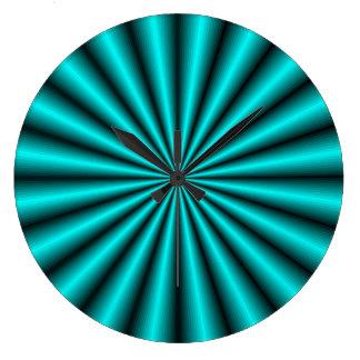 Reloj de pared de la ilusión óptica del efecto del