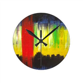 Reloj de pared de la impresión del arte del forast