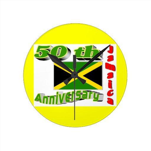 reloj de pared de la independencia de Jamaica