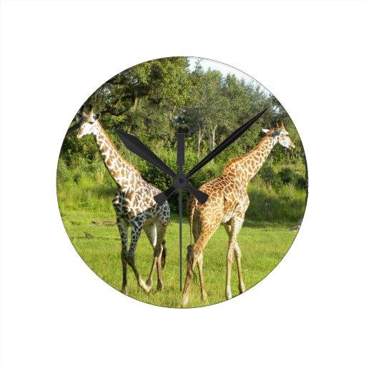 Reloj de pared de la jirafa
