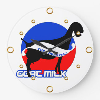 Reloj de pared de la leche de la cabra