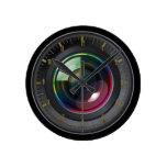Reloj de pared de la lente de cámara