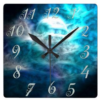 Reloj de pared de la luna del cielo de la fantasía