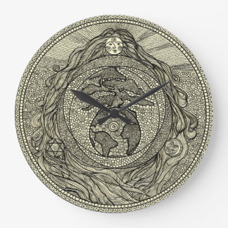 Reloj de pared de la madre tierra de Gaia