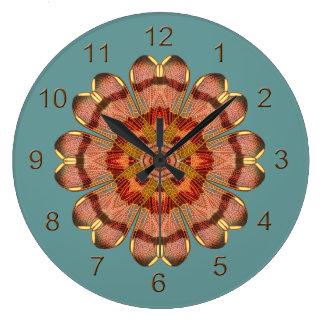 Reloj de pared de la mandala del ala de la libélul