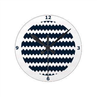 Reloj de pared de la marina de guerra en el zigzag