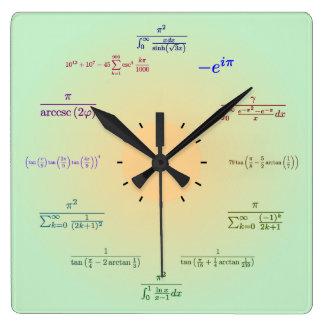 Reloj de pared de la matemáticas