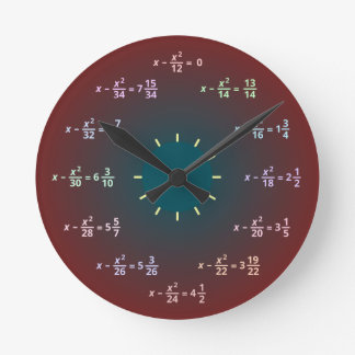 Reloj de pared de la matemáticas (AM-PM)
