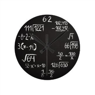 Reloj de pared de la matemáticas del friki