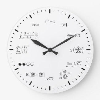 Reloj de pared de la matemáticas (grande)