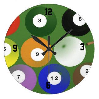 Reloj de pared de la mesa de billar