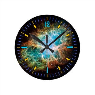 Reloj de pared de la nebulosa de cangrejo